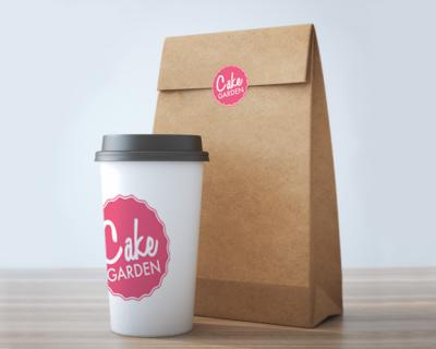 Cake Garden Logo Cup & Bag